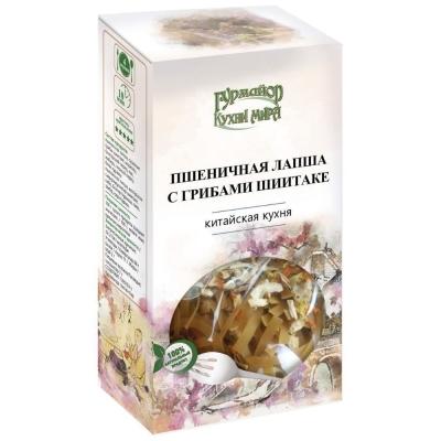 Пшеничная Лапша Гурмайор Кухни мира с Грибами Шиитаке