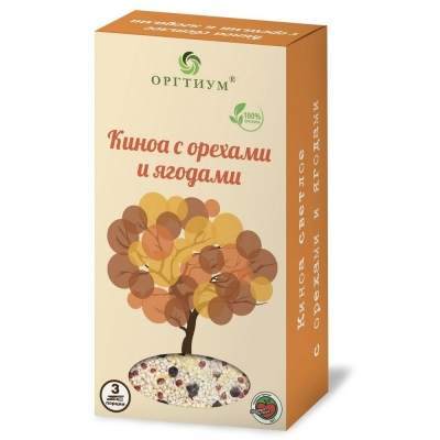 Киноа Оргтиум с ягодами и орехами