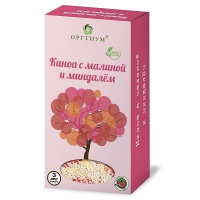 Киноа Оргтиум с малиной и миндалем