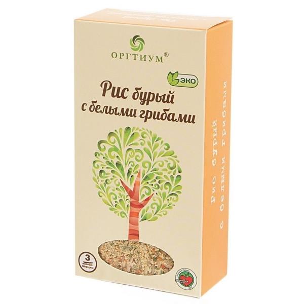Рис Оргтиум бурый экологическое с белыми грибами
