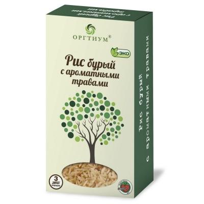 Рис Оргтиум бурый экологическое с ароматными травами