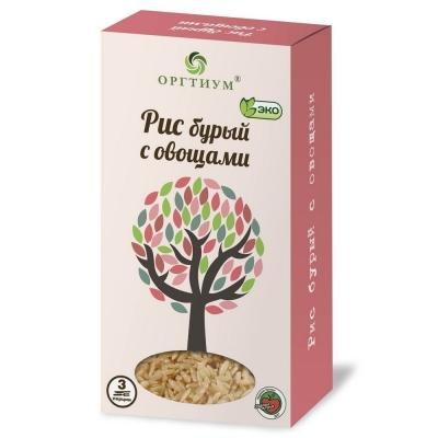 Рис Оргтиум бурый экологическое с овощами