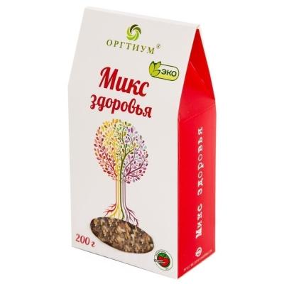 Микс здоровья Оргтиум (семена чиа и ягоды годжи, лен темный и светлый, кунжут темный и светлый)
