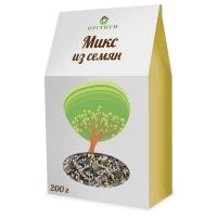 Микс из семян Оргтиум (лен темный и светлый, кунжут темный и светлый, тыквенные и подсолнуха семечки)