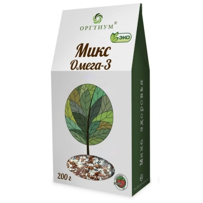 Микс Омега-3 Оргтиум (семена чиа и конопли очищенные, лен темный и светлый, кунжут темный и светлый)