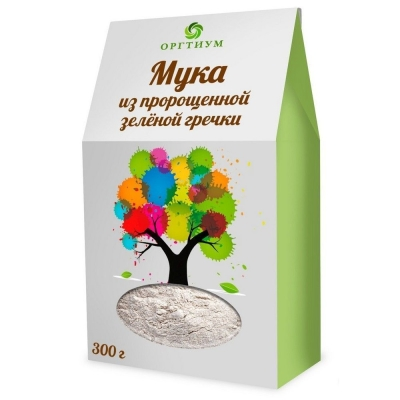 Мука Оргтиум пророщенной зеленой гречки