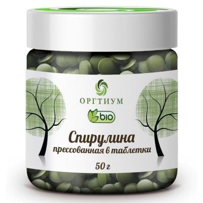 Спирулина Оргтиум прессованная в таблетки