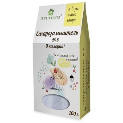 Сахарозаменитель №5 Оргтиум (в 5 раз слаще сахара)