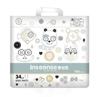 Подгузники Inseense V5S трусики XL (12-17кг) 34шт (салатовая упаковка)