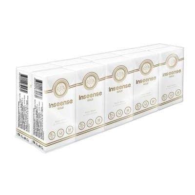 Платочки Inseense бумажные 3 слоя 10шт без аромата