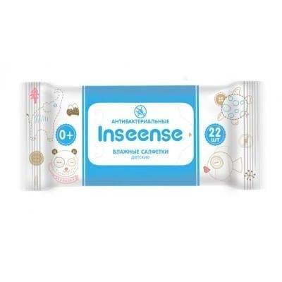 Салфетки Inseense влажные для детей 22шт антибактериальные