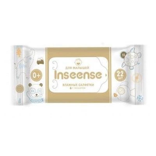 Салфетки Inseense влажные для детей 22шт с лосьоном