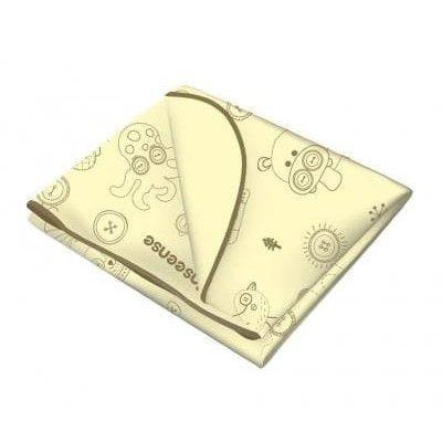 Клеенка Inseense подкладная с ПВХ покрытием (окант тесьмой) 0,5 х 0,7м (желтая с рисунком)