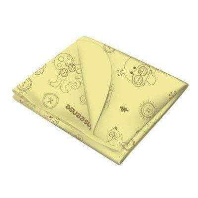 Клеенка Inseense подкладная с ПВХ покрытием 0,5 х 0,7м б/тесьмы (желтая с рисунком)