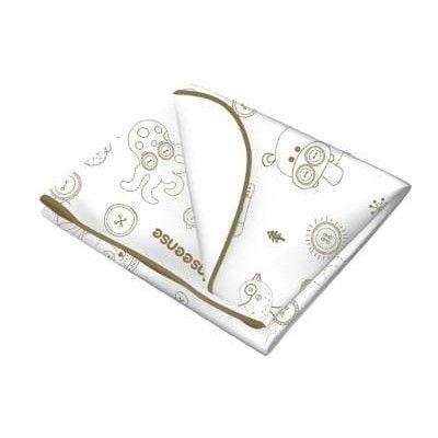 Клеенка Inseense подкладная с ПВХ покрытием 0,7 х 1м (окант тесьмой) (белая с рисунком)