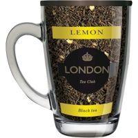 Чай London Tea Club черный байховый Лимон в стеклянной кружке