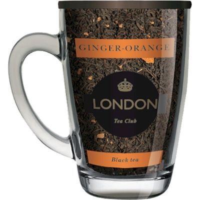 Чай London Tea Club черный байховый Имбирь, апельсин в стеклянной кружке