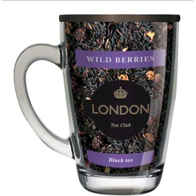 Чай London Tea Club черный байховый Лесные ягоды в стеклянной кружке