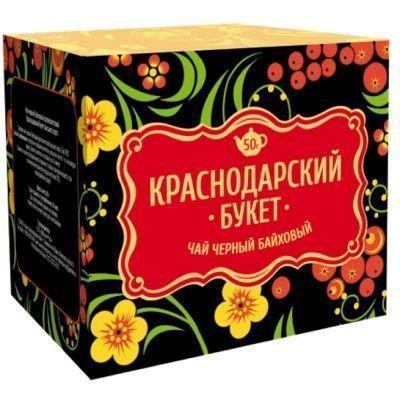 Чай Краснодарский букет черный крупнолистовой