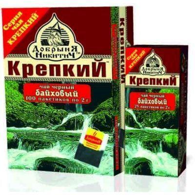 Чай Добрыня Никитич черный среднелистовой Крепкий 25 пак.