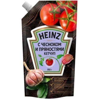 Кетчуп Хайнц с чесноком и пряностями дой-пак