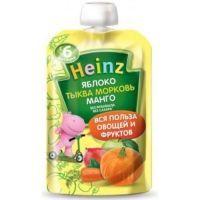 Пюре Хайнц Яблоко, морковь, тыква, манго п