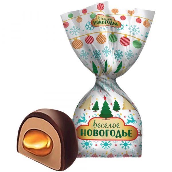 Конфеты ФинТур Веселое новогодье вкус крем-брю