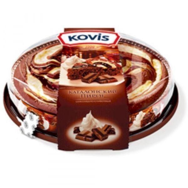 Пирог бисквитный Ковис шоколад-сливки