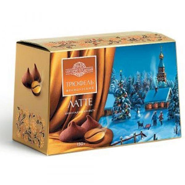 Набор конфет Сергиево-Посадская КФ Трюфель французский НГ Латте сундучок