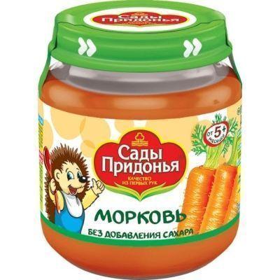Пюре Сады Придонья морковное стекло