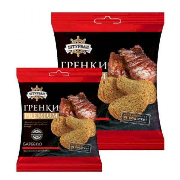 Гренки премиум Штурвал со вкусом барбекю