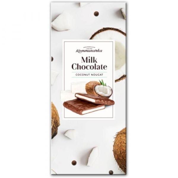 Шоколад Коммунарка Milk Chocolate Кокосовая нуга