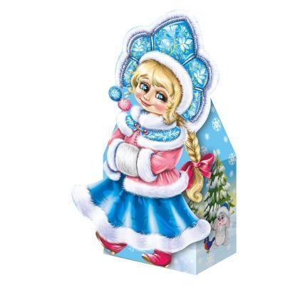 Новогодний подарок Внучка Снегурочка картон