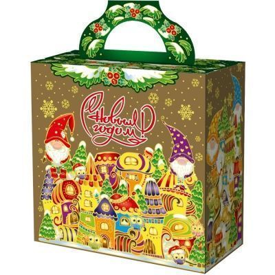Новогодний подарок Городок гномов картон