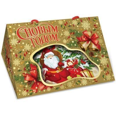 Новогодний подарок Золотая фоторамка картон