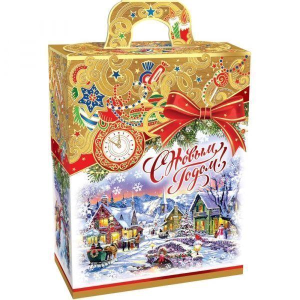 Новогодний подарок Золотое рождество картон