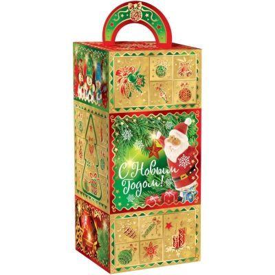 Новогодний подарок Золотой подсвечник картон