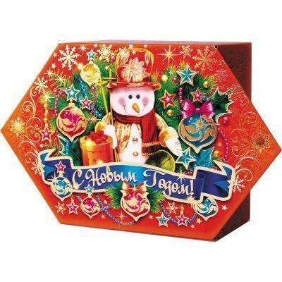 Новогодний подарок Конфета вкусняшка картон