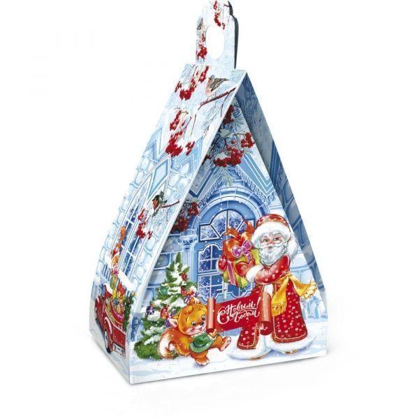 Новогодний подарок Ледяной домик картон