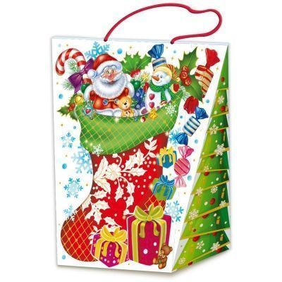 Новогодний подарок Нарядный картон