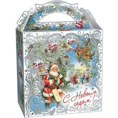 Новогодний подарок Серебристые узоры картон