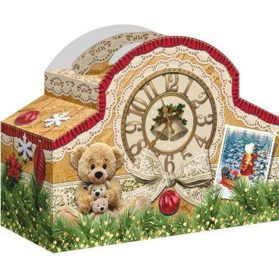 Новогодний подарок Часы ретро картон