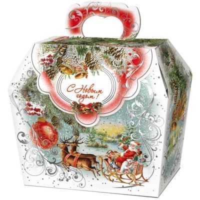 Новогодний подарок Шкатулка Декупаж картон
