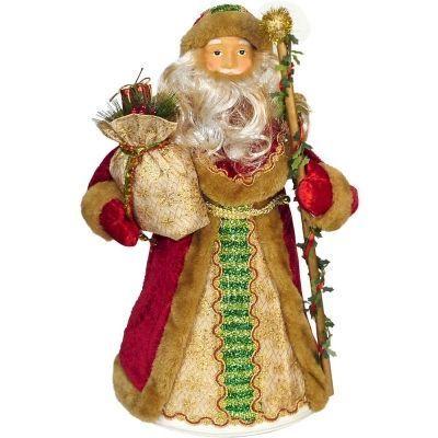 Новогодний подарок Дед Мороз красный мех