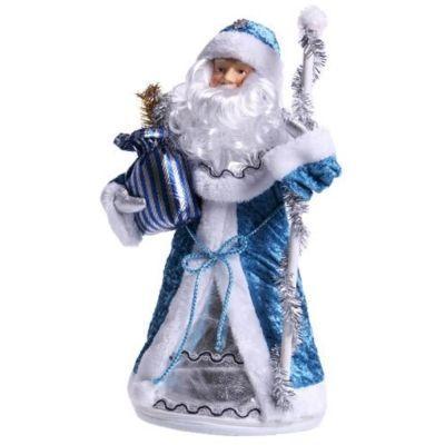 Новогодний подарок Дед Мороз синий мех