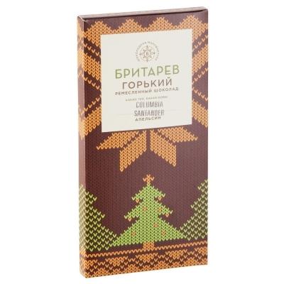 Шоколад ремесленный 'Бритарев' горький 70% какао с апельсином