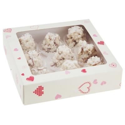 Конфеты ручной работы 'Бритарев' Крокант с кокосом и лепестками миндаля в белом ремесленном шоколаде