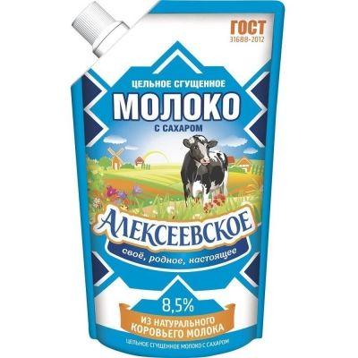Молоко сгущенное с сахаром 'Алексеевское' дой-пак ГОСТ