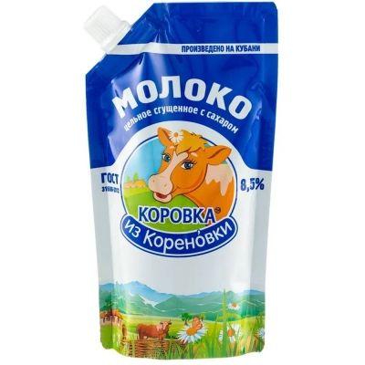 Молоко сгущенное с сахаром 'Коровка из Кореновки' дой-пак