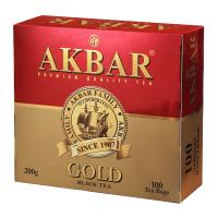 Чай черный Акбар Gold 100 пак. с ярл.